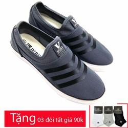 Giày lười vải chất  liệu cao cấp AD661G