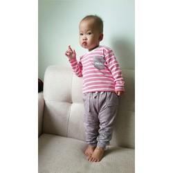Combo 2 bộ đồ dài cho bé 0 - 6 tháng