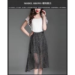 S M L - Set Áo Chân Váy