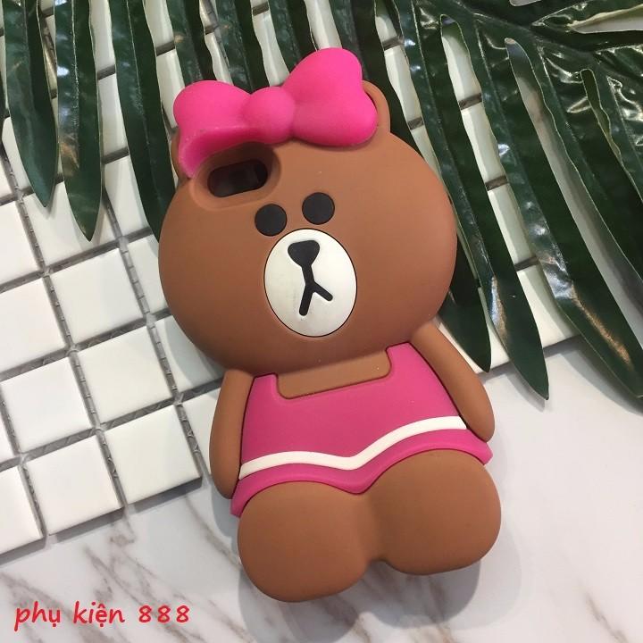 Ốp lưng Iphone 5,5s gấu quấn nơ hồng 1