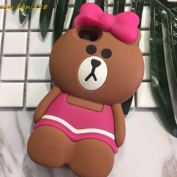 Ốp lưng Iphone 5,5s gấu quấn nơ hồng 5