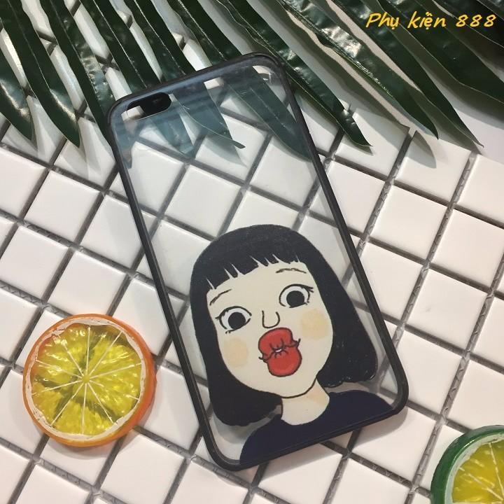 Ốp lưng Iphone 6 plus cô gái chu môi 1