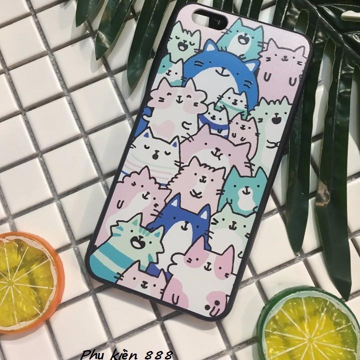 Ốp lưng Iphone 6 plus nhiều mèo 1