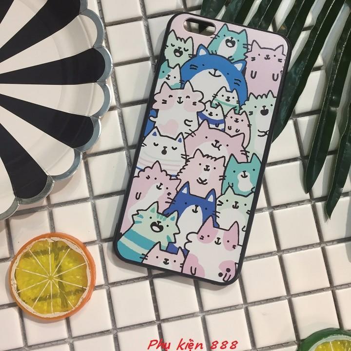 Ốp lưng Iphone 6 plus nhiều mèo 5
