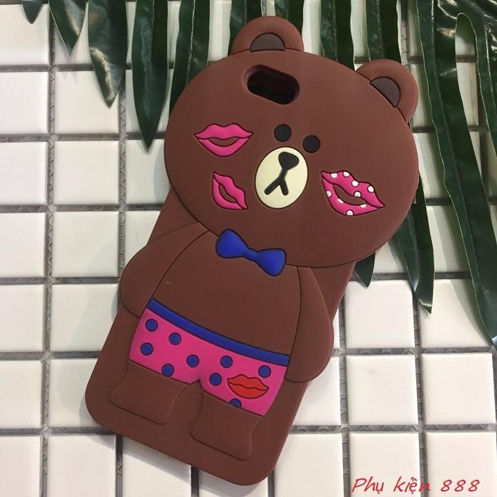 Ốp lưng Iphone 6,6s gấu kiss 3