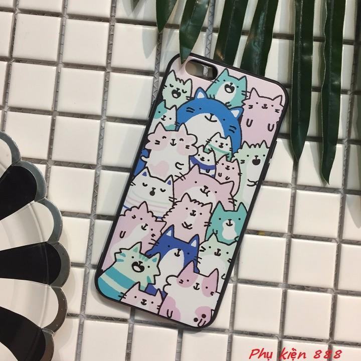 Ốp lưng Iphone 6,6s nhiều mèo 1