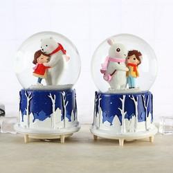 Hộp nhạc quả cầu tuyết mùa g không lạnh thỏ