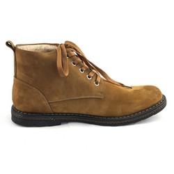 Giày cao cổ nam 2379 da lộn màu nâu bò