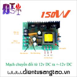 Mạch nguồn đối xứng 12v DC ra +-12v DC