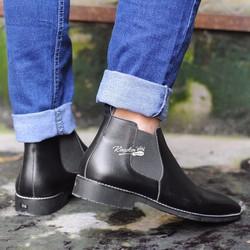 Giày tây Chelsea Boots nam da bò bụi bặm , chất lượng cao