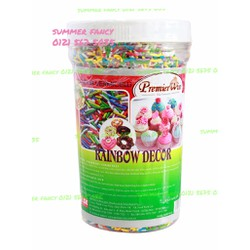 500g Cốm 7 Màu Rainbow decor Premier Win Cake Mate Sprinkles Rainbow