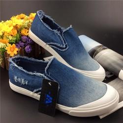 giày lười vải jeans nam wax màu