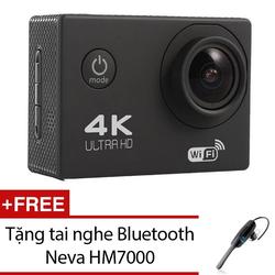 Camera hành trình ô tô xe máy WIFI 4K ULTRA HD Tặng tai nghe Bluetooth