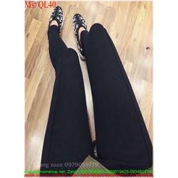 Quần legging nữ thun đen trơn cá tính sành điệu