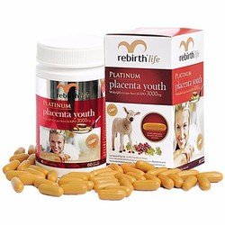 Viên uống nhau thai cừu Rebirth Platinum Placenta Youth