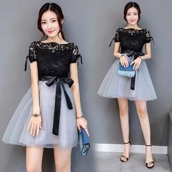 Đầm xoè ngắn tay siêu dễ thương  D6222
