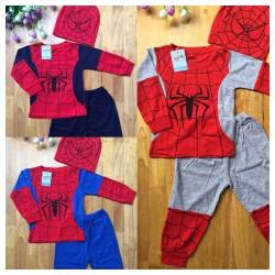 sét bộ quần áo Siêu nhân nhện 3 chi tiết