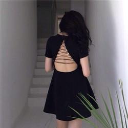 Đầm đan dây lưng siêu dễ thương