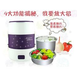 Hộp cơm hâm nóng cắm điện Inox đa năng 3 tầng Meiyun