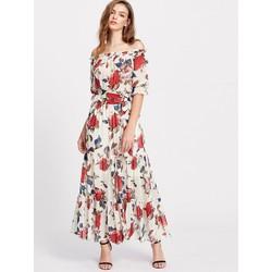 Đầm Maxi Hoa Tay Lỡ