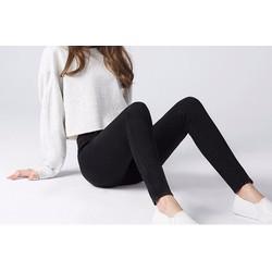 Quần legging kaki thun trơn co giãn pha túi hông