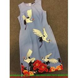 Áo dài cách tân sát nách hình chim cò sành điệu dễ thương
