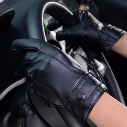 Sỉ lẻ Găng tay cảm ứng,lái xe thời trang da lót lông chống nước nhẹ