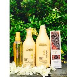 Gội xả tinh dầu dưỡng tóc Loreal Mythic Oil 500ml