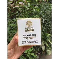 Mặt Nạ  Dưỡng Da Nạ Vàng 24K Siberica Natural