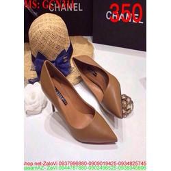 Giày cao gót nữ mũi nhọn da trơn cho nàng thêm thanh lịch GCN311
