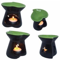 Đèn xông tinh dầu chân nến tặng tinh dầu và 10 viên nến