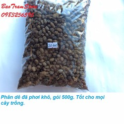 Phân dê đã qua xử lý phơi khô, tốt cho mọi cây trồng gói 500g