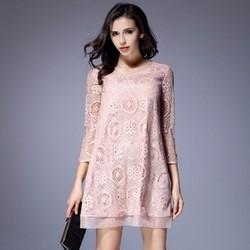Đầm suông ren cho người mập -giá 580k - Y14012