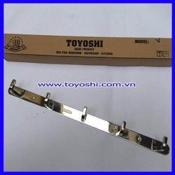 Móc áo vuông 5 cao cấp Toyoshi - inox 304, bóng gương