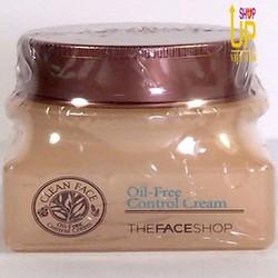 Kem Dưỡng Trị Mụn Da Dầu Clean Face Oil Free -The Face Shop