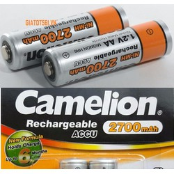 Vỉ 2 Pin Sạc Camelion 1.2V AA 2700 mAh