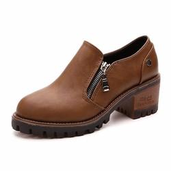 Giày cao gót bít mũi S1060 Nâu