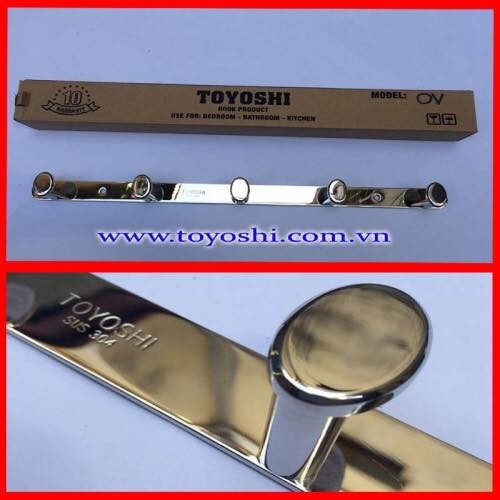 Móc áo oval 5 cao cấp Toyoshi sus304 bóng gương