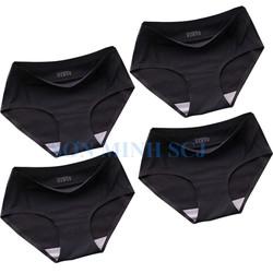 Bộ 4 quần lót nữ thun lạnh co giãn 4 chiều cực thoải mái Freesize Đen