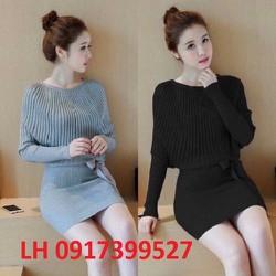 Đầm công sở váy công sở đầm ôm thời trang Hàn Quốc L12KN11