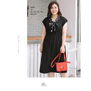 ĐẦM THUN PHỐI NƠ BI dress101 - DRESS101 thumbnail