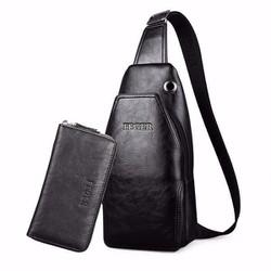 Túi đeo chéo nam kèm ví cao cấp Feger