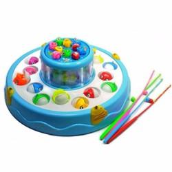 Bộ đồ chơi câu cá nghe nhạc 2 tầng cho bé