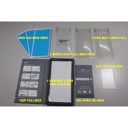 Dán full màn hình hiệu Gor cho Galaxy S8 Plus gồm 4 miếng dán