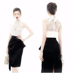 Set bộ áo chân váy thiết kế áo ren tuyệt đẹp S10041