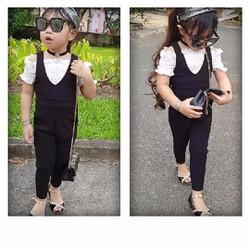 Bộ jum bé gái kèm áo trắng dún dún cute hàng thiết kế