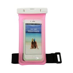 Túi chống nước phao cho điện thoại Pink