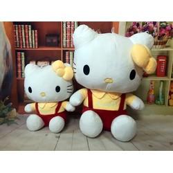 Thú bông gấu bông mèo kitty quần đỏ áo vàng 70cm
