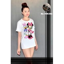 áo thun nữ mickey-donald