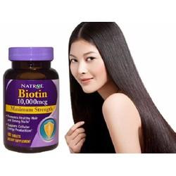 Natrol Biotin 10.000 mcg hỗ trợ mọc tóc, giúp móng chắc khỏe của Mỹ